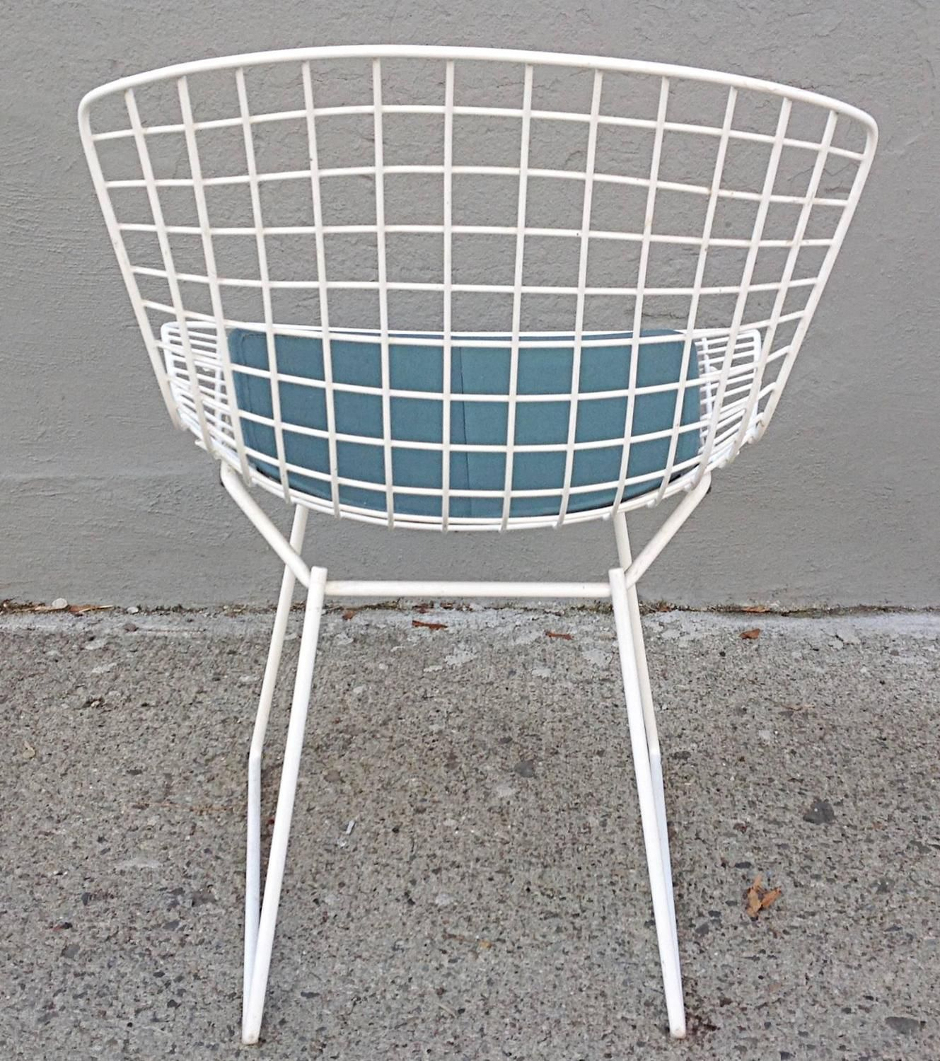 Set of Four Wire Chairs by Harry Bertoia for Knoll