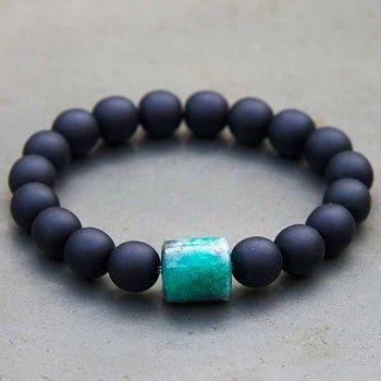 disponible vente énorme grandes variétés Bracelet émeraude Homme perles de verre de Venise par ...