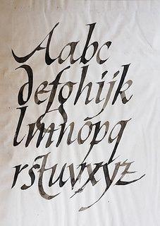 Roman Calligraphy Alphabet Calligraphy Roman Font