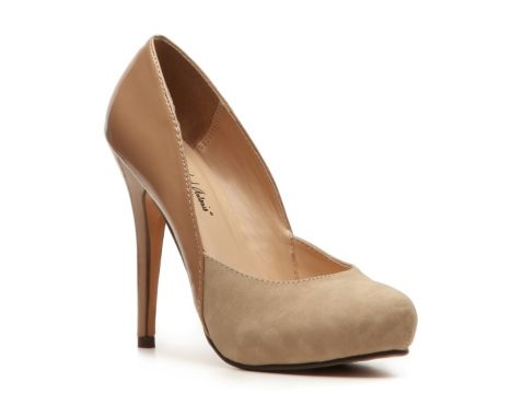 Michael Antonio Leon Pump in Natural. Also available in Black and Taupe (my fav!)