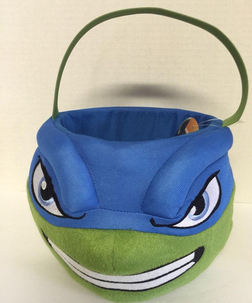 Teenage Mutant Ninja Halloween Trick A Treat Basket Plush With Handle   Nickelodeon  Basket 8612a1a2c4f0