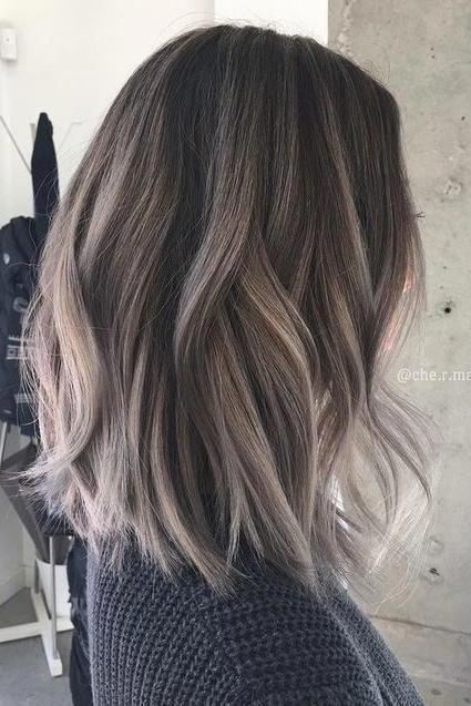 Cute gray hair color highlights #grayhaircolors  Spring hair