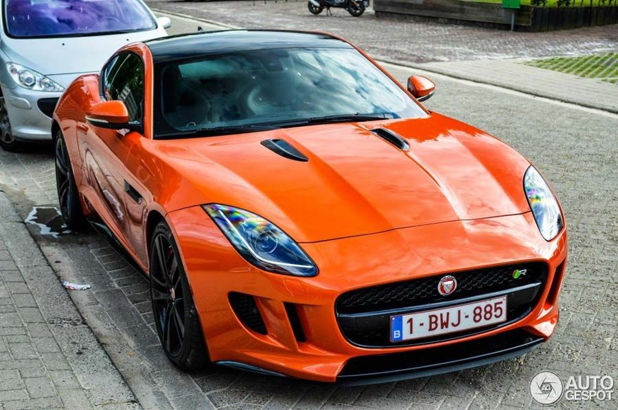 Jaguar F Type R Coupe Looks Juicy In Orange Jaguar Pinterest