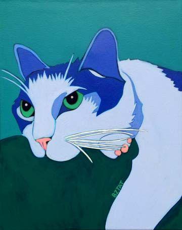 Cat pet portrait by BZTAT  Get a portrait of your pet at www.bztatstudios.com
