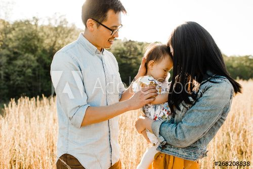 Family standing in field , #Ad, #Family, #standing, #field #Ad