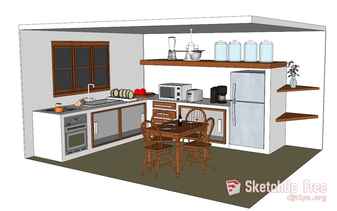 1183 Kitchen Sketchup Model Free Download | Sketchup Free