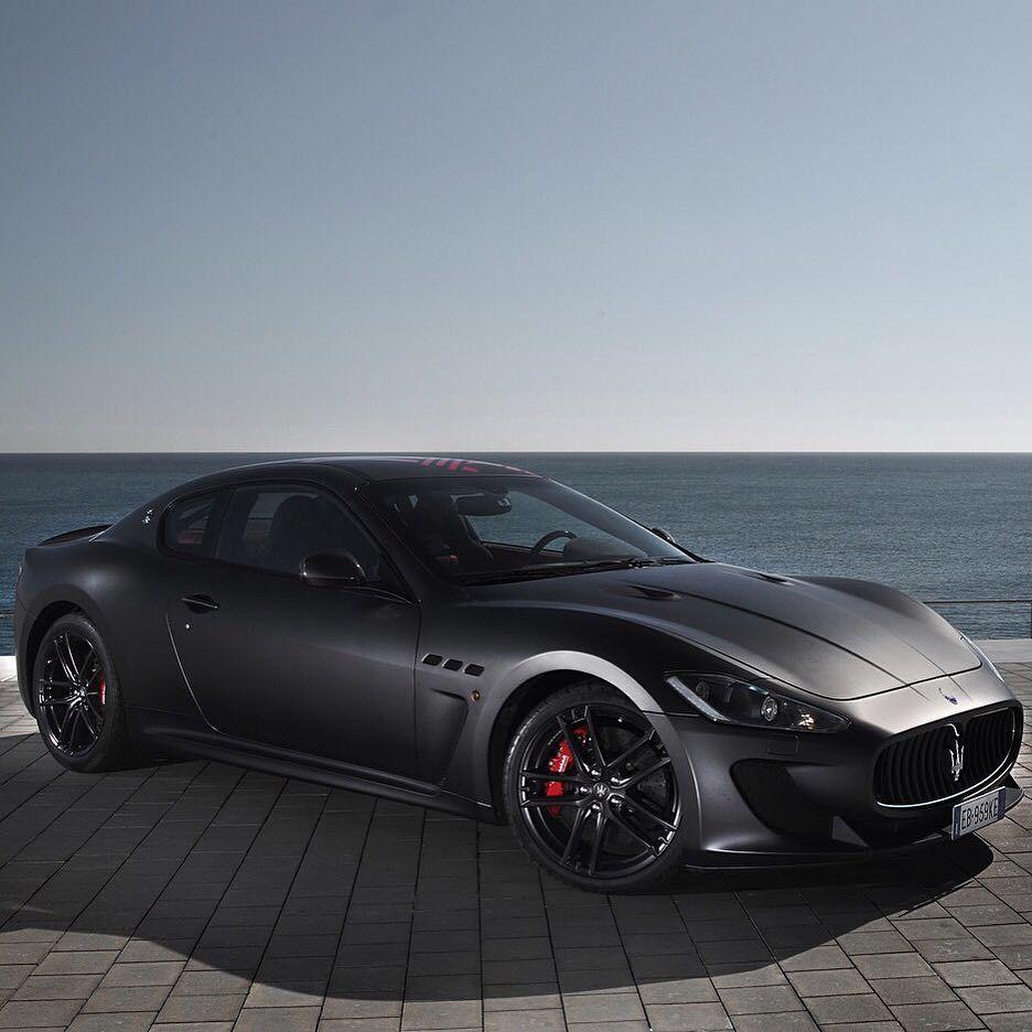 Maserati Car Wallpaper: Maserati Gran Turismo, Matte Black Repost
