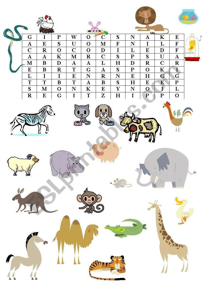2 Farm Animals Activities Esl Animal Wordsearch Esl Worksheet By Ivush 2 Farm Animals Activities In 2020 Farm Animals Activities Animal Worksheets Animal Activities