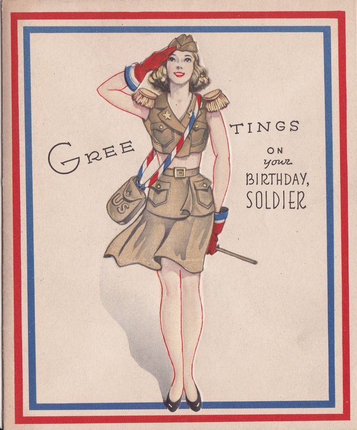Us Vintage Cards For Soldiers Google Search Vintage Military