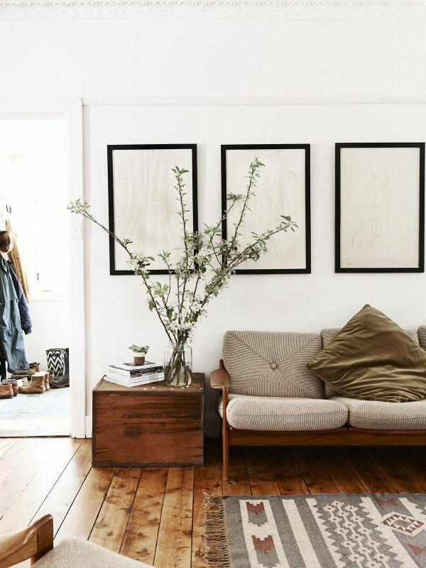wohnzimmer rustikal einrichten wohnzimmermöbel holzboden ...