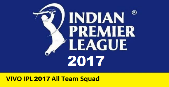 VIVO IPL 2017 Team Squad VIVO IPL 10 Team Squad, All