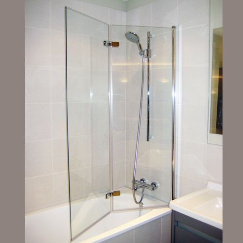 Bi Fold Shower Screen Bath Google Search Shower Over Bath