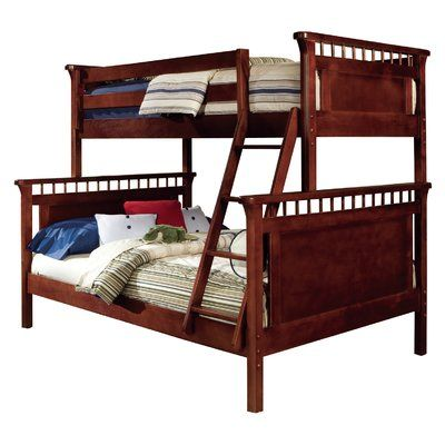 Harriet Bee Bonneau Traditional Twin Full Bunk Bed Color