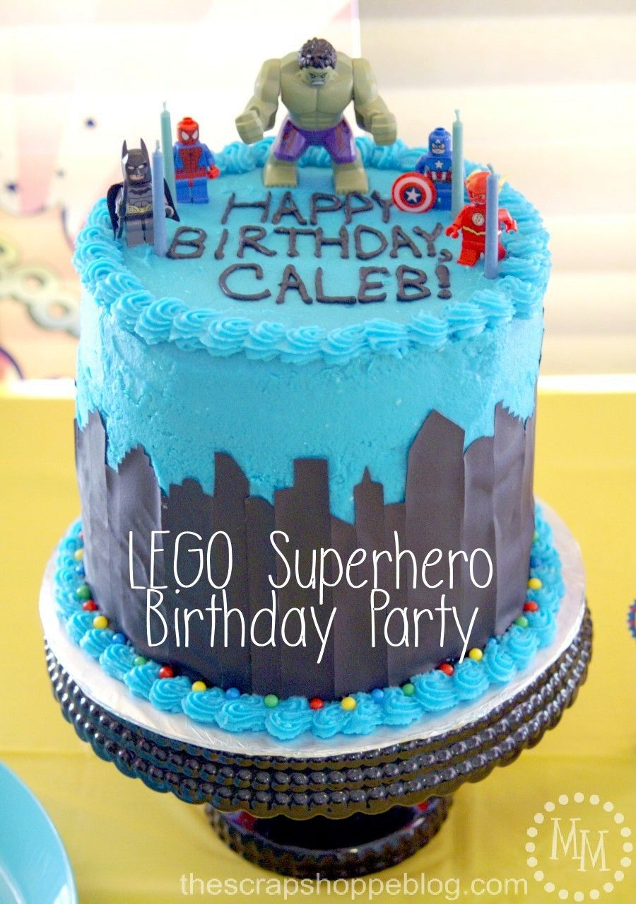 LEGO Superhero Birthday Party Lots Of Fun Ideas Popular Pins - Lego birthday cake decorations