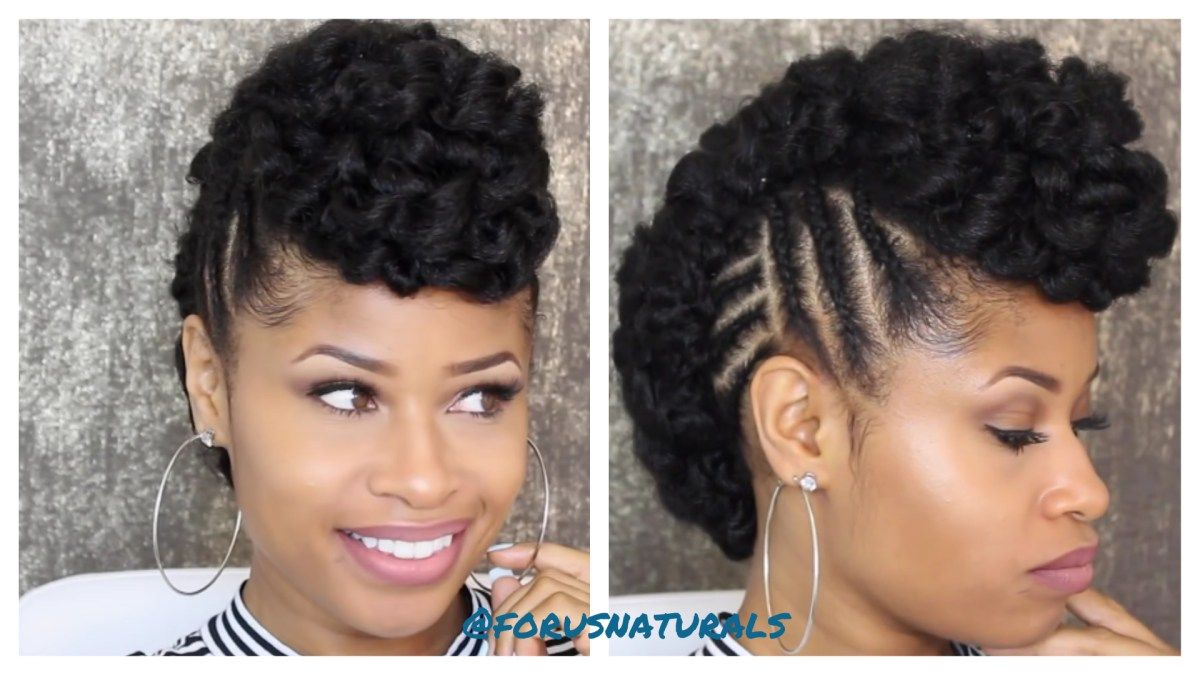 Crochet braid fauxhawk updo hair pinterest hair braids and