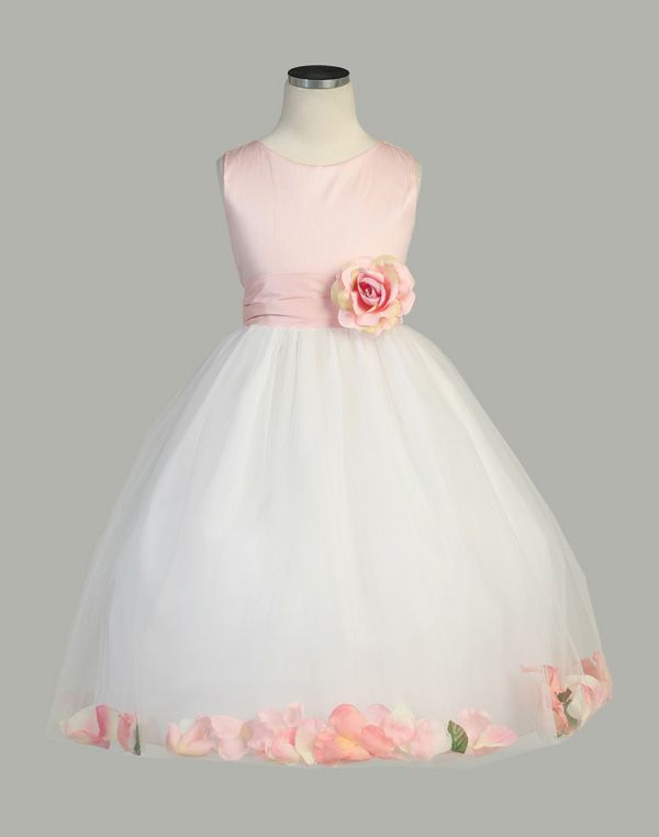 pink and white flower girl dresses - Google Search | Wedding ...