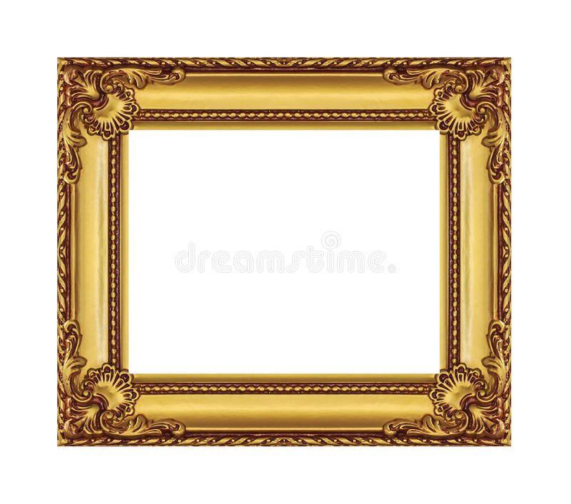 Marco antiguo del oro en el fondo blanco cuadros for Marco cuadro antiguo