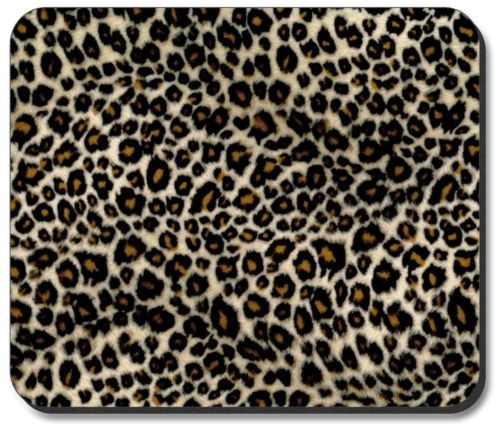 Small Leopard Spot Animal Print Mouse Pad Mat Computer Desk
