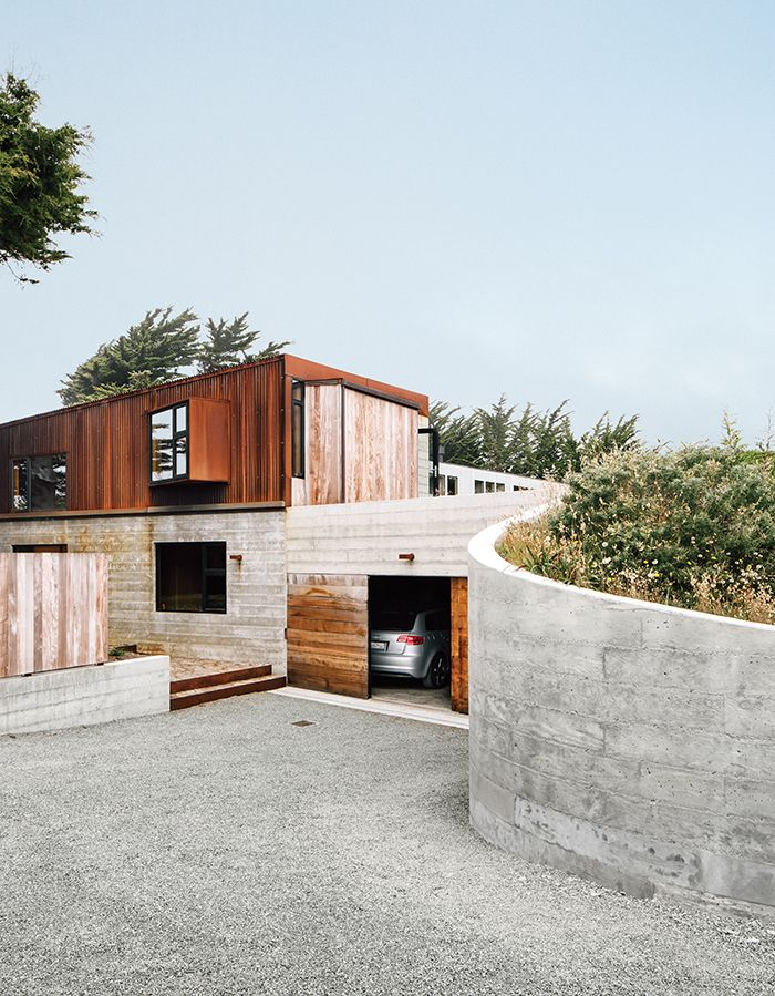 Modern Concrete House With Glass Walls: A New Home At Sea Ranch, A Half-century-old Enclave Of