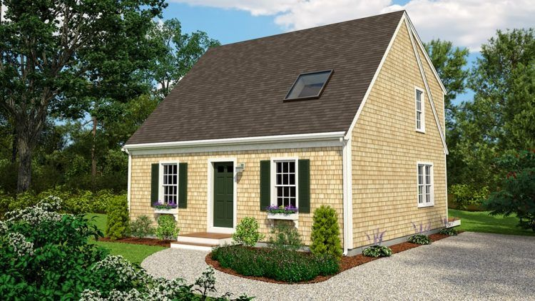 Another Small Cape Cod House Design That Will Make You Feel Like Home Cottage House Plans Brick House Plans Porch House Plans