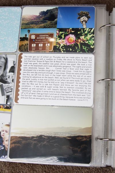 Project Life - 6x12 divided page protector // find joy in the journey