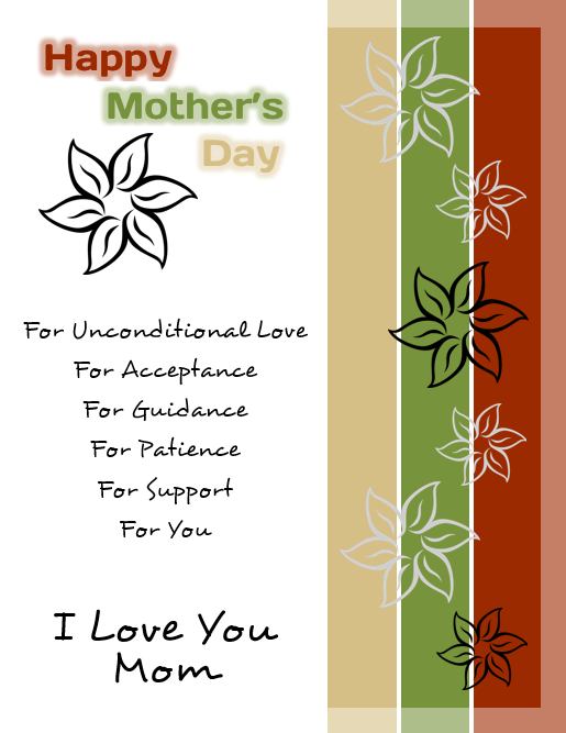 Happy Mothers Day Flyer Template For Microsoft Word Flyertutor