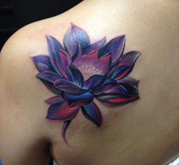 Lotus Purple Black Lotus Tattoo Shoulder Tattoos For Women Flower Wrist Tattoos