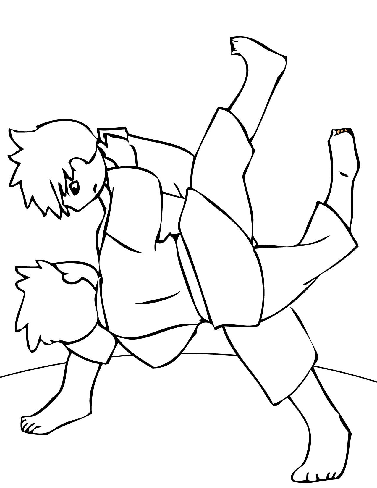 color karate | Karate coloring pages | Pinterest
