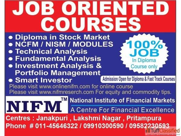Online NIFM offers online stock market courses for students