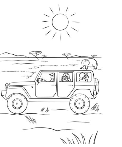 kostenlos jeep ausmalbilder zum ausdrucken | kinder für malvorlagen | Öl-pastellzeichnungen