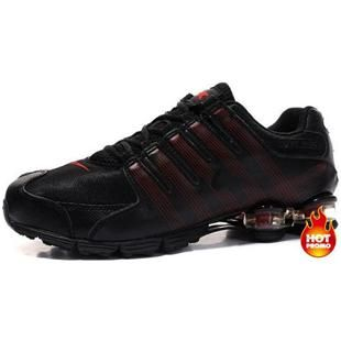 4745a9cad91 www.asneakers4u.com Mens Nike Shox R4 Black Red Cushion5