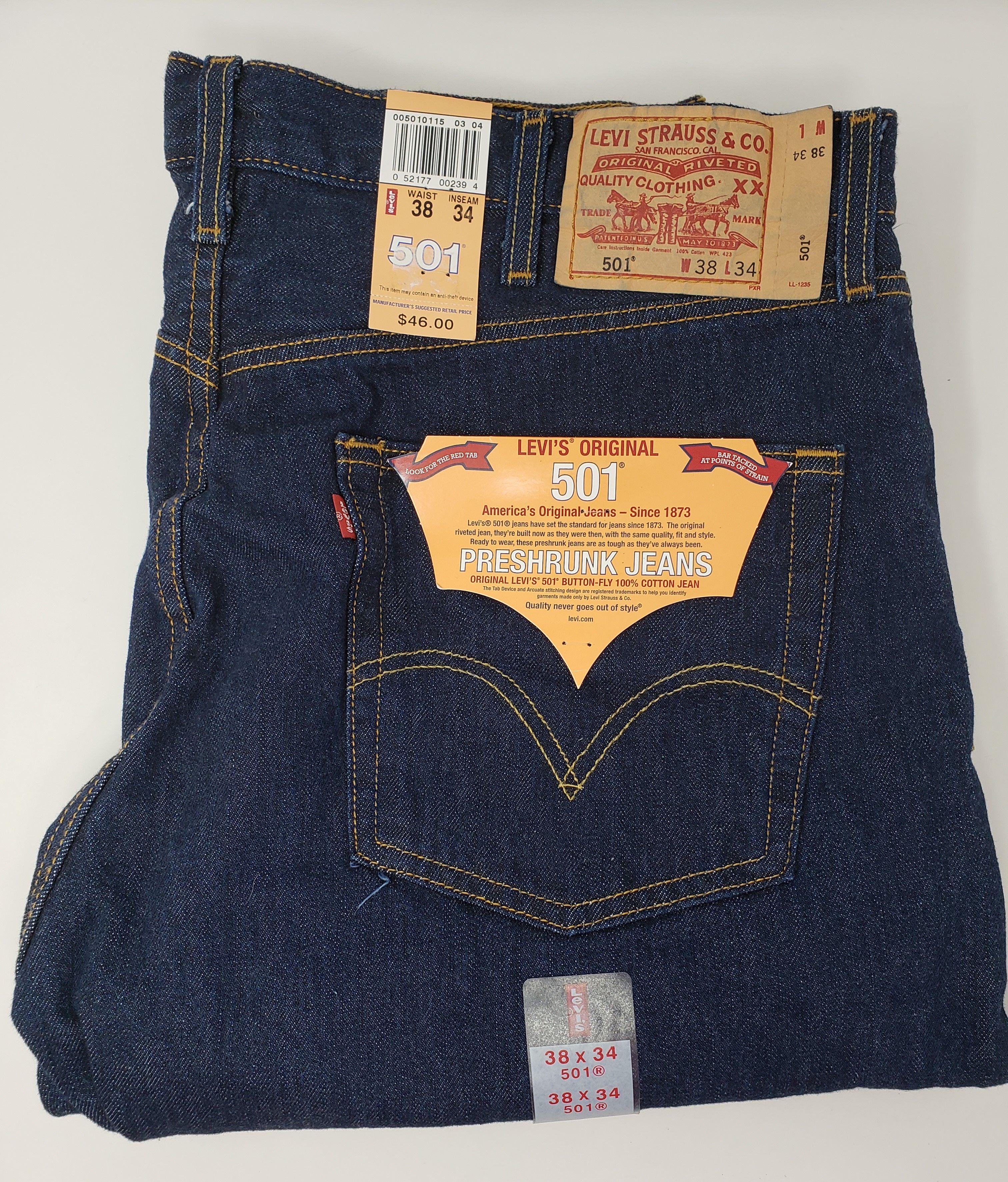 Levi's® 501® Original Fit Preshrunk Button-Fly 100% Cotton ...