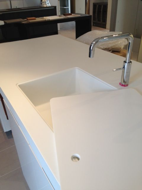 Custom Corian Sink With Sink Cover