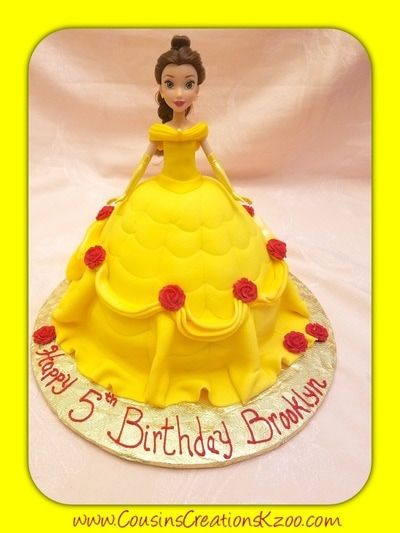 Belle Doll Cake Cousins Creations Birthday Cakes for Gals