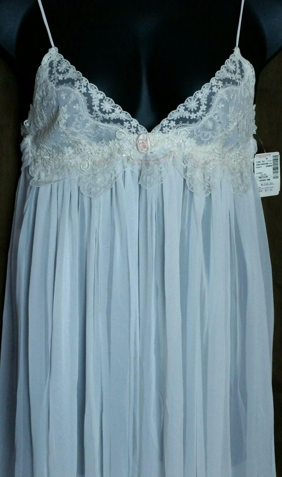 New Vintage Jonquil Diane Samandi Peignoir Set Lace Beaded Bridal ...