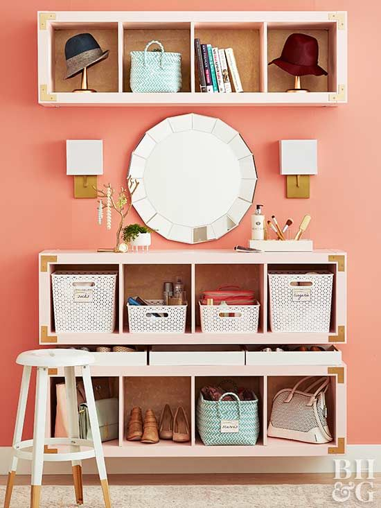 Learn How To Build Your Own Vanity Cube Storage Bedroom Storage Diy Wall Unit