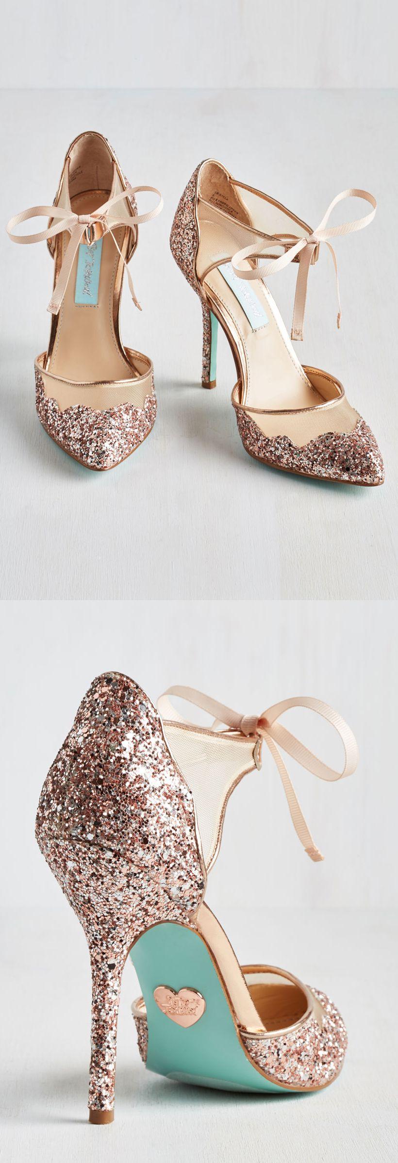 Rose Gold Glitter Heels Sapatos Sapatos De Casamento Sapatos Salto