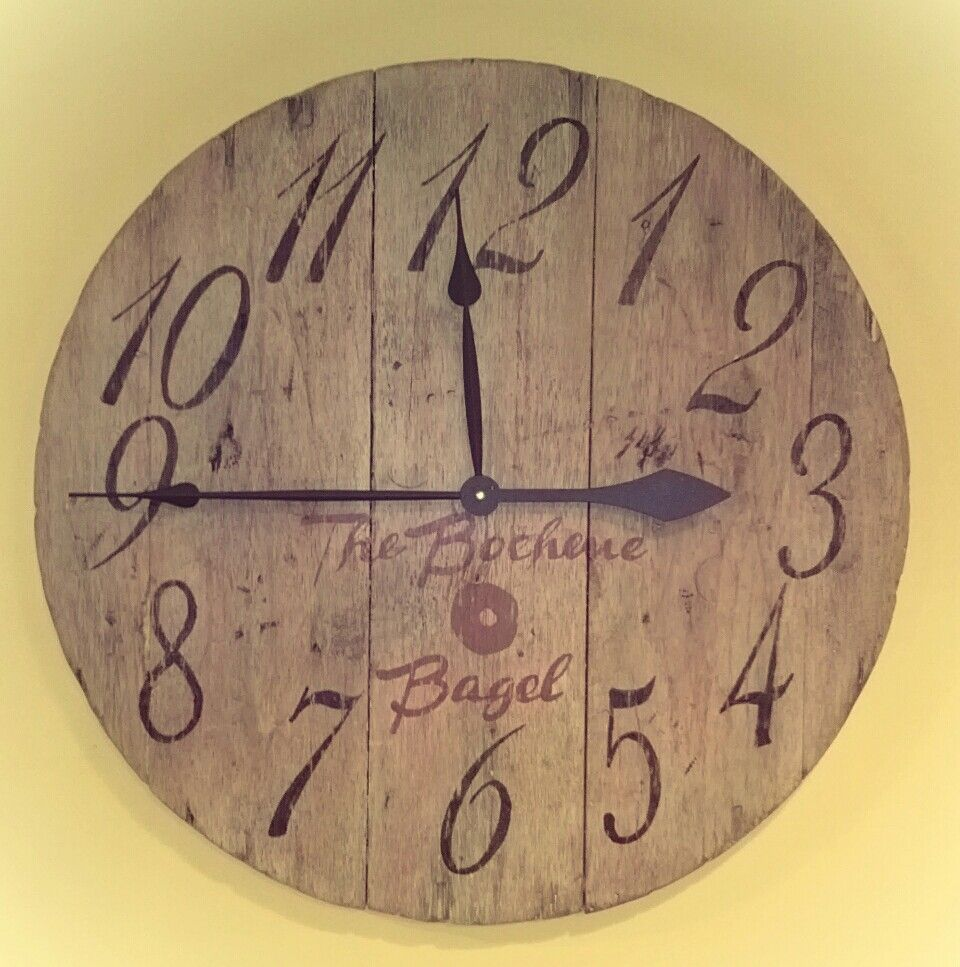 Large Wall Clock Made From Pallot Boards For The Home