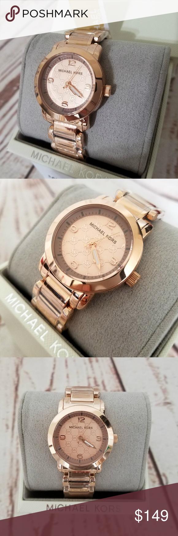 451081f49f5b Michael Kors Rose Gold-Tone Three-Hand Watch MK315    100 ...