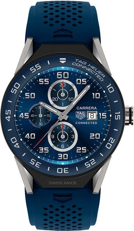 25250d1bf04 Tag Heuer Connected Modular 45 mm Blue Mens Watch
