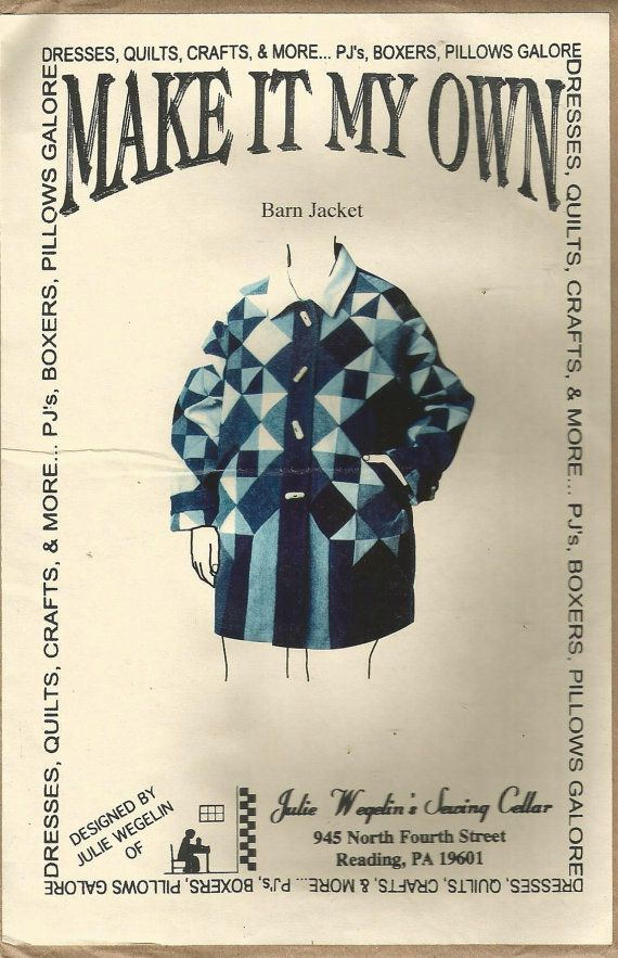 Barn Jacket sewing pattern XS S M L XL 2XL By Make It your ...