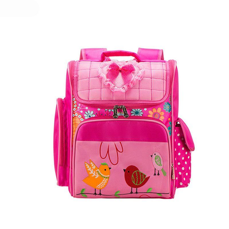 b96dacfcf2f1 New Waterproof Oxford School Bags for Girls Orthopedic Children Cartoon  backpack Cute Birds School Backpacks mochila escolar
