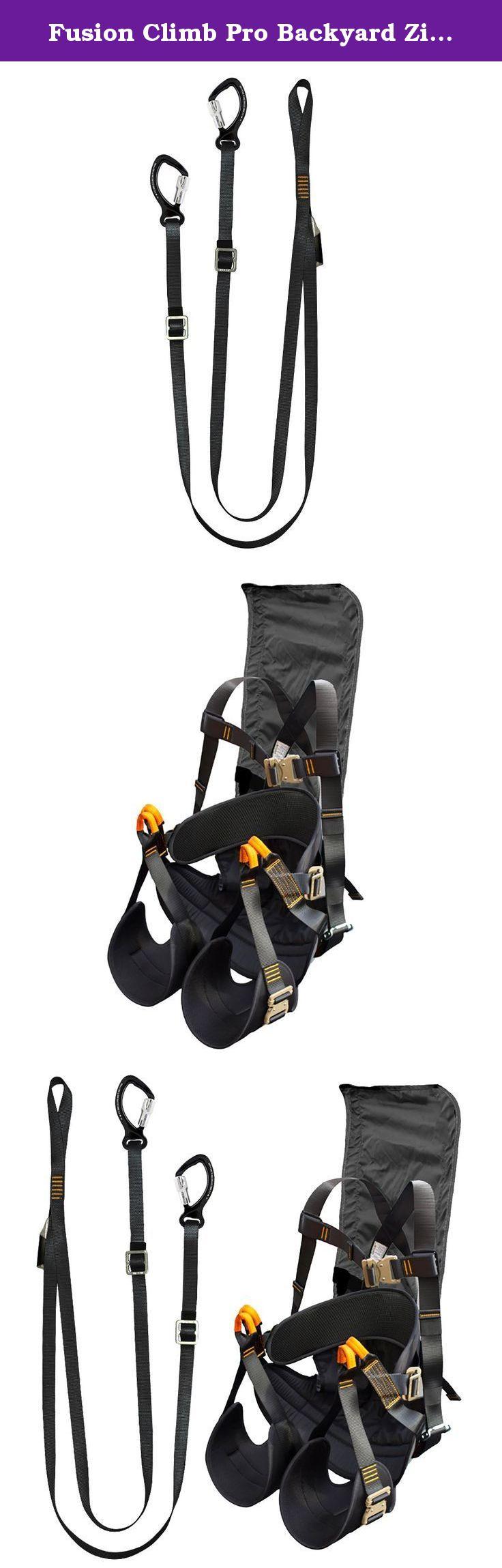 fusion climb pro backyard zip fk a hl 15 line kit harness lanyard