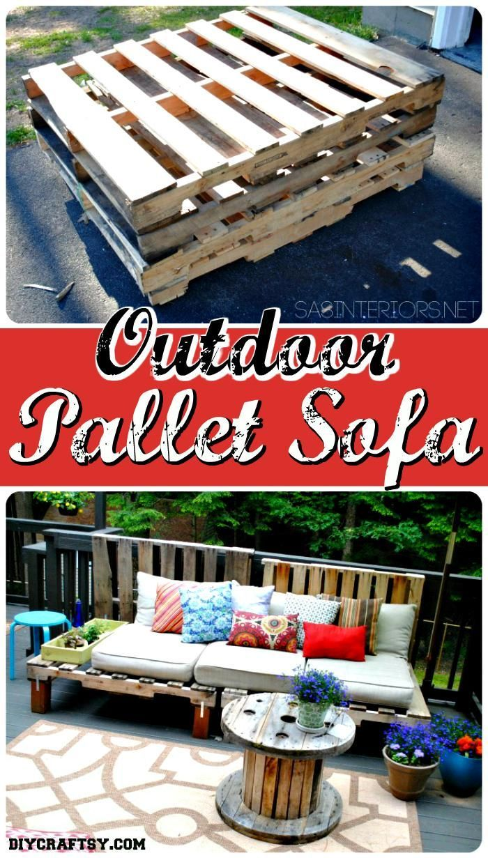 Outdoor Pallet Sofa Tutorial 150 Best