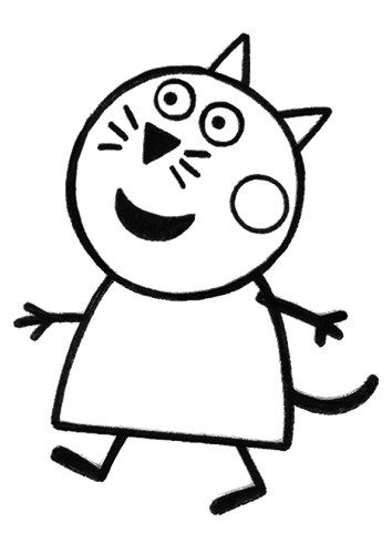 Colorear Candy Cat Peppapig