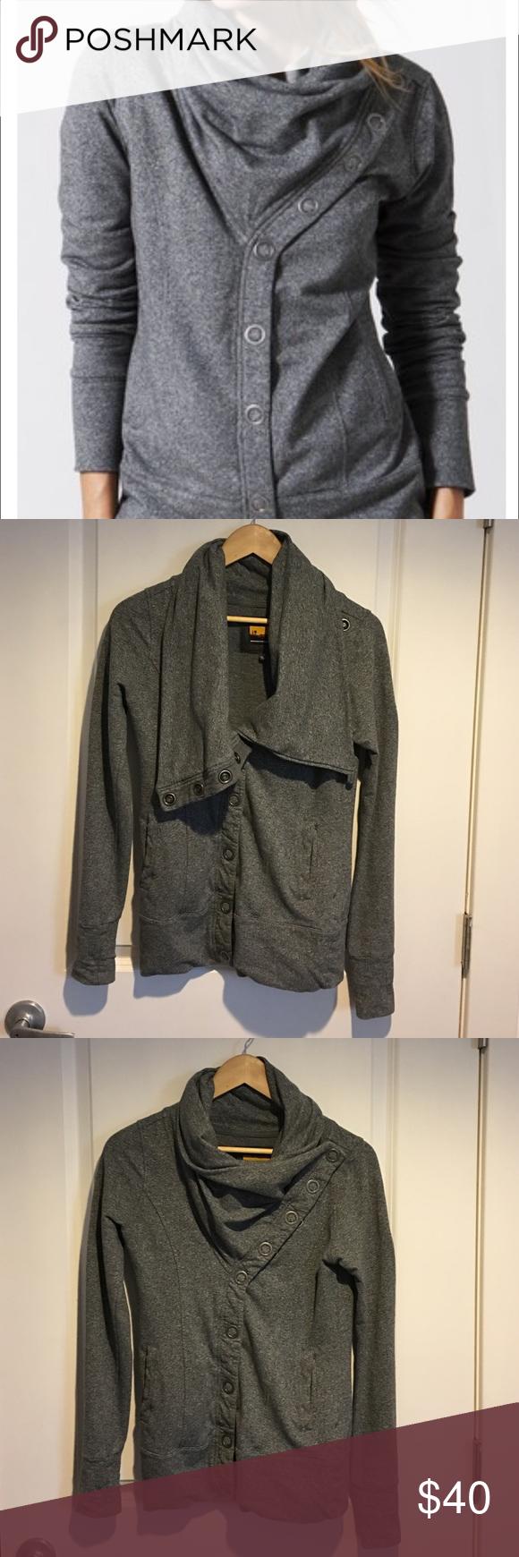 Brooklyn Industries gray sweater Brooklyn industries grey snap sweater. Brooklyn Industries Sweaters Cardigans