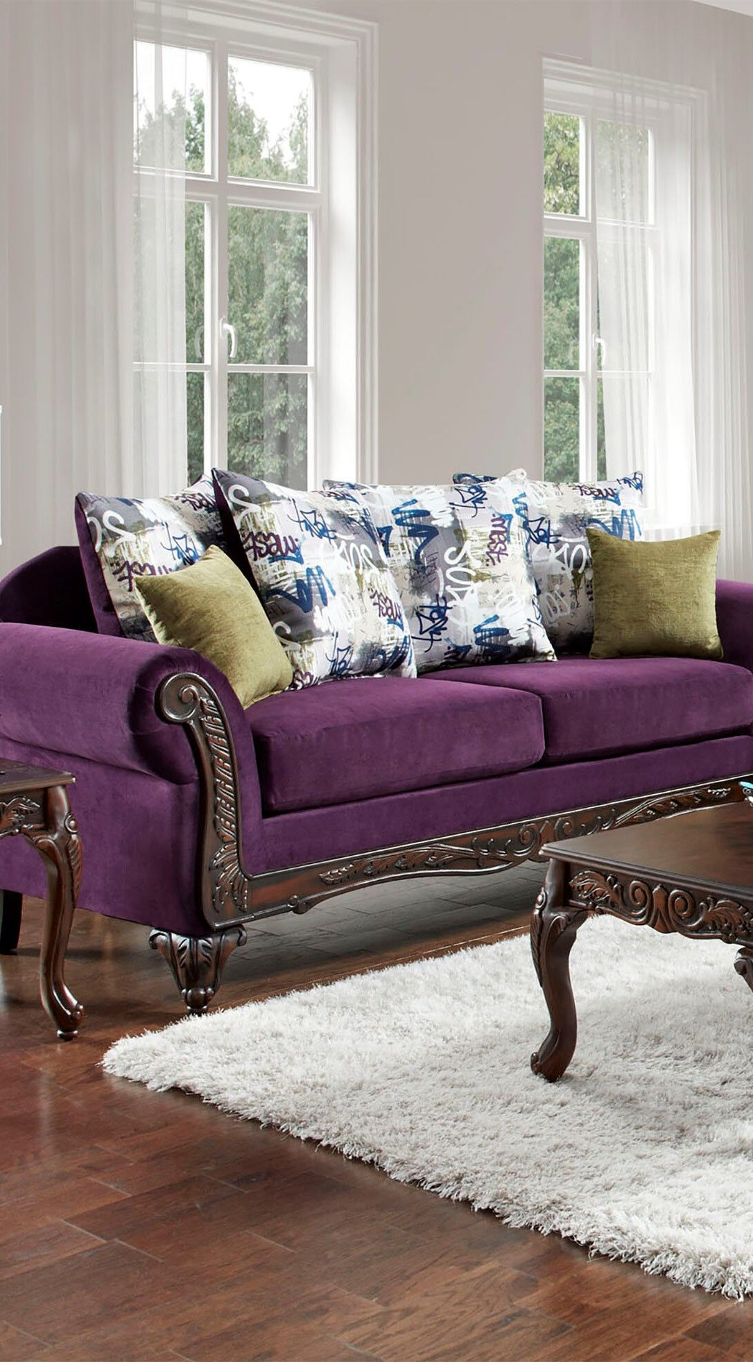 The Best Living Room Color Schemes Dark Green Purple Di 2020