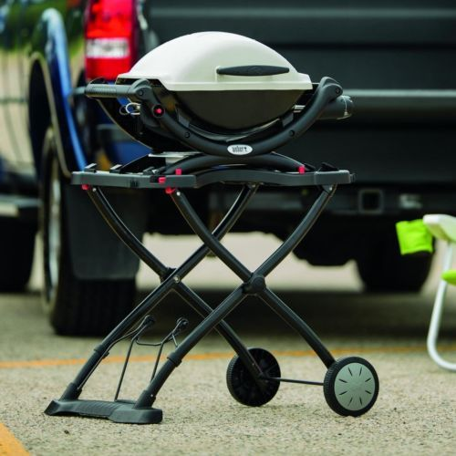 Weber Portable Cart Grilling Grill Rolling Wheels Stand