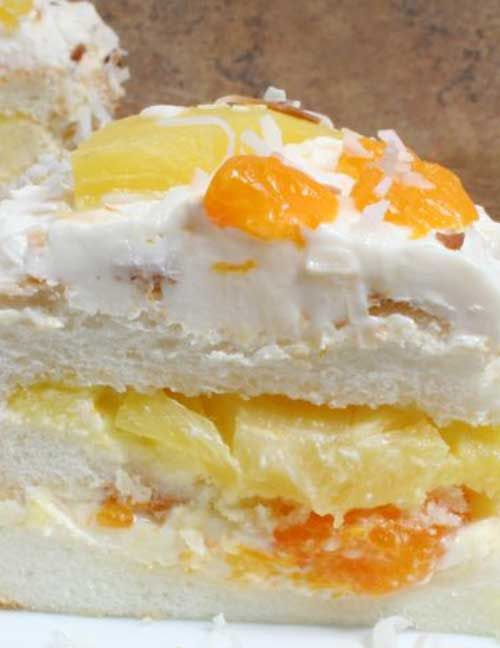 Check out ambrosia cake its so easy to make angel food cakes ambrosia cake recipe for ambrosiaorange ideasmandarin forumfinder Images