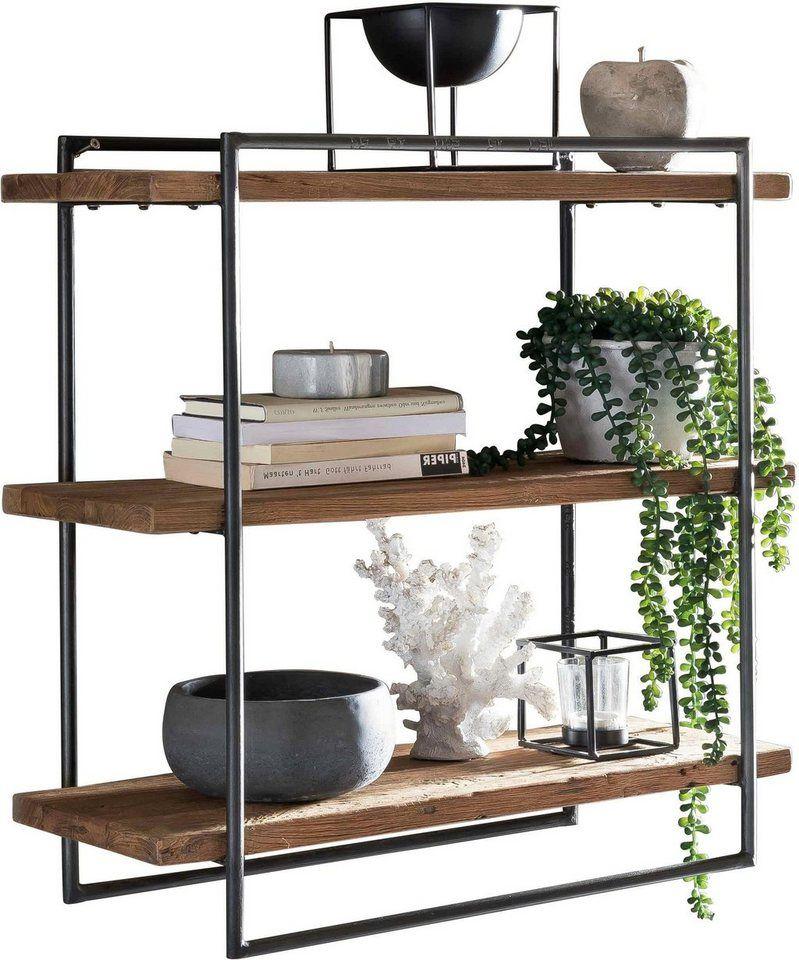 Wandregal Küchenregal Holz Metall Regal Shabby Industrie